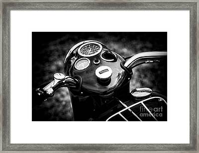 Triumph Tiger T110 Detail Framed Print by Tim Gainey