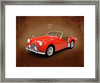 Triumph Tr3 1957 Framed Print