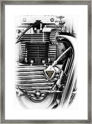 Triumph Triton Engine Framed Print