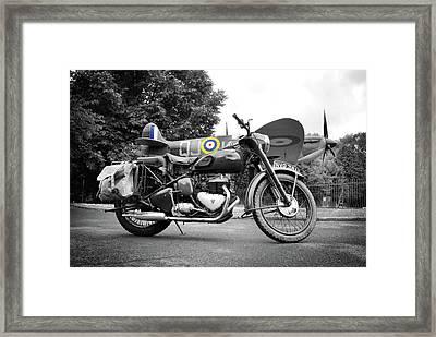 Triumph Trw 1952 Framed Print by Mark Rogan