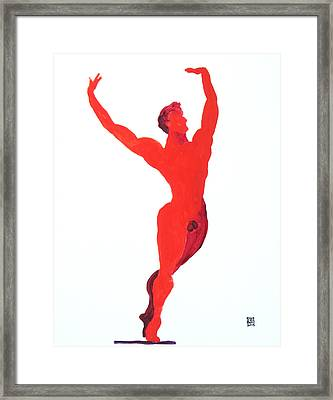 Framed Print featuring the painting Triumphant Balance by Shungaboy X