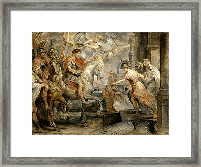 Triumphant Entry Of Constantine Into Rome Framed Print by Peter Paul Rubens