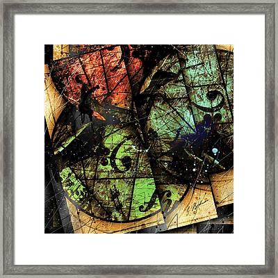 Trois Cercles Framed Print by Gary Bodnar