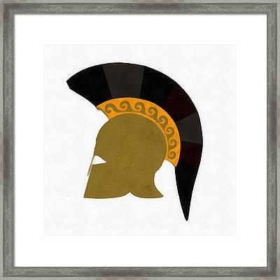 Trojan Helmet Framed Print