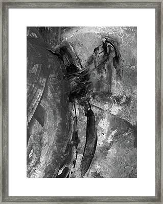 Trojan Horse - Black And White Vertical Painting Framed Print