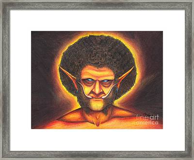 Troll Jesus Framed Print