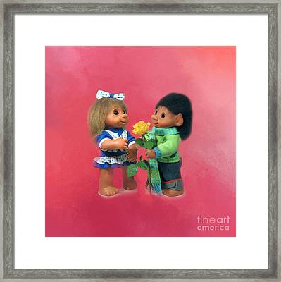 Troll Love Framed Print by Renee Trenholm
