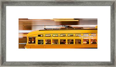 Trolley 1052 On The Move Framed Print