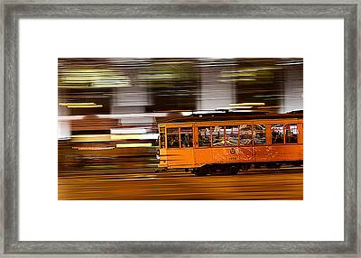 Trolley 1856 On The Move Framed Print