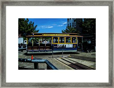 Trolley Car Turn Around Framed Print