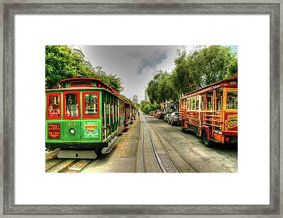 Trolley Cars Framed Print