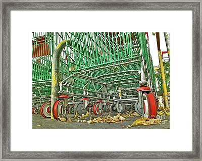 Framed Print featuring the photograph Trolley Convoy by Stephen Mitchell