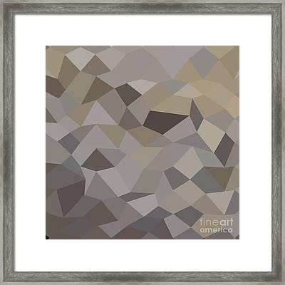 Trolley Grey Abstract Low Polygon Background Framed Print by Aloysius Patrimonio