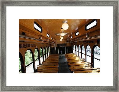 Trolley Interior Framed Print