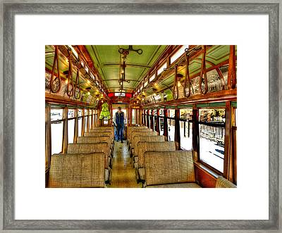 Framed Print featuring the photograph  Trolley by Raymond Earley