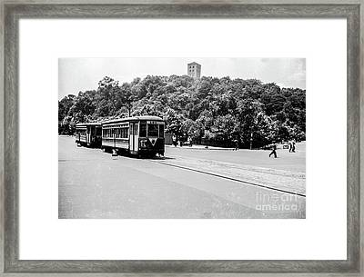 Framed Print featuring the photograph Trolley With Cloisters by Cole Thompson