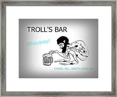 Troll's Bar Chapel Hill Nc Framed Print
