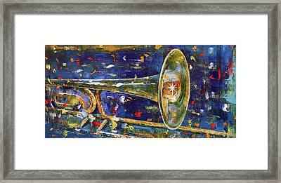 Trombone Framed Print by Michael Creese