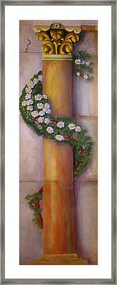 Framed Print featuring the painting Trompe L'oeil  Column by Thomas Lupari