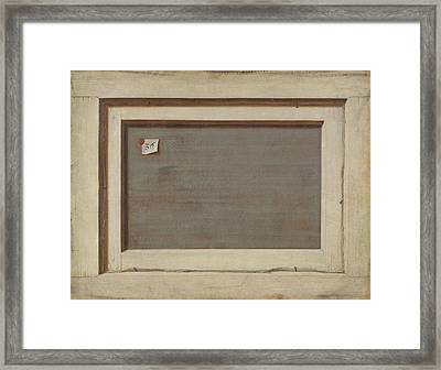 Trompe L'oeil. The Reverse Of A Framed Painting Framed Print by Cornelis Norbertus Gysbrechts