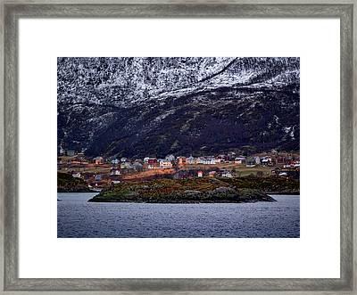 Tromso Lighthouse Framed Print