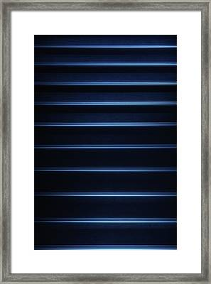 Tron Blue Framed Print