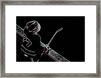 Tron Hockey - 1 Framed Print by Tya Kottler