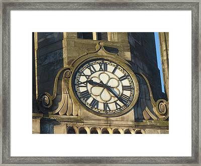 Tron Kirk Clock Framed Print by Margaret Brooks