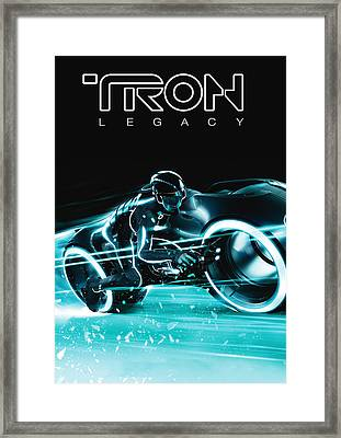 Tron Legacy Framed Print by Matt Haig