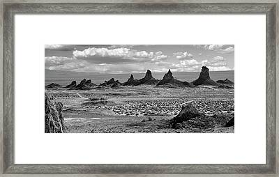 Trona Pinnacles Peaks Framed Print