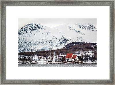 Trondenes Church Harstad Norway Framed Print
