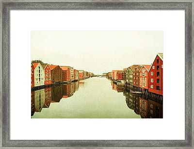 Trondheim On A Rainy Day Framed Print