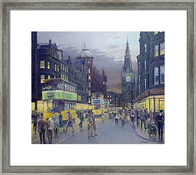 Trongate Glasgow Framed Print by William Ireland