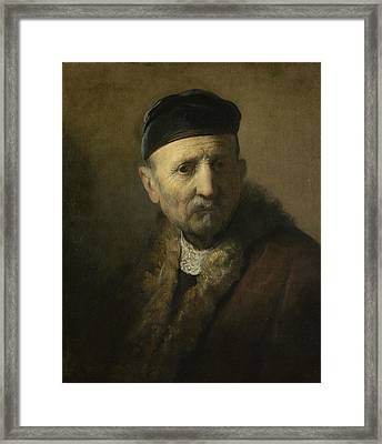 Tronie Of An Old Man Framed Print by Rembrandt