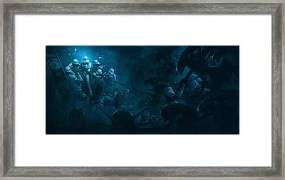 Troopers Vs Space Cockroaches 1 Framed Print by Guillem H Pongiluppi
