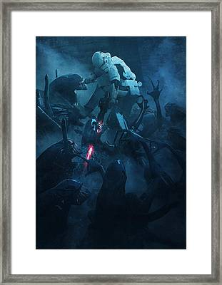 Troopers Vs Space Cockroaches 2 Framed Print by Guillem H Pongiluppi