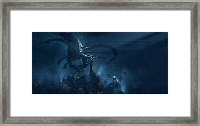Troopers Vs Space Cockroaches 5 Framed Print by Guillem H Pongiluppi