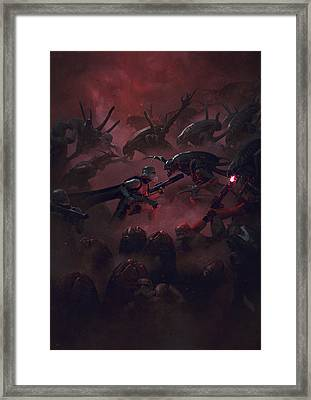 Troopers Vs Space Cockroaches 6 Framed Print by Guillem H Pongiluppi