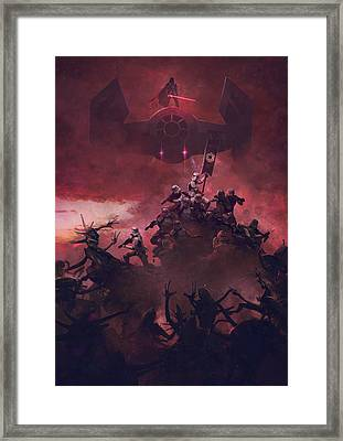 Troopers Vs Space Cockroaches 7 Framed Print by Guillem H Pongiluppi