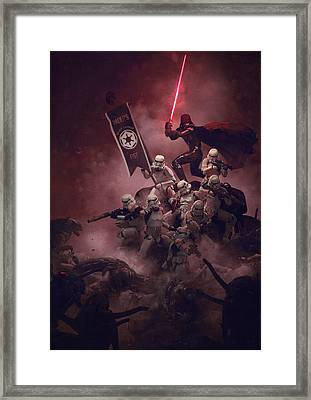 Troopers Vs Space Cockroaches 8 Framed Print by Guillem H Pongiluppi