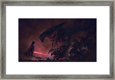 Troopers Vs Space Cockroaches 9 Framed Print by Guillem H Pongiluppi