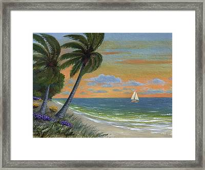 Framed Print featuring the painting Tropic Breeze by Gordon Beck