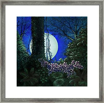 Framed Print featuring the painting Tropic Moon by Michael Frank