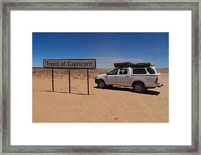 Tropic Of Capricorn Framed Print by Davide Guidolin