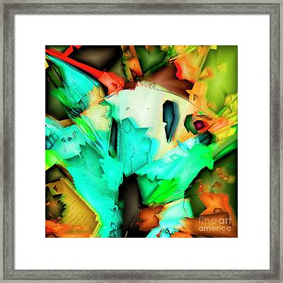 Tropical Angel Fish In Abstract 20170325v5 Square Framed Print