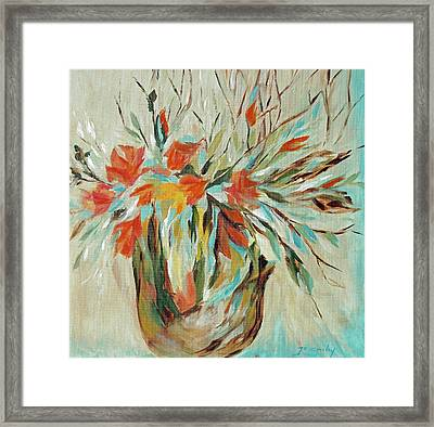 Framed Print featuring the painting Tropical Arrangement by Joanne Smoley