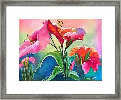 Tropical Attraction Framed Print