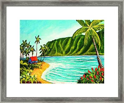 Tropical Beach #361 Framed Print by Donald k Hall
