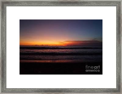Tropical Beach At Sunset Framed Print by Timea Mazug