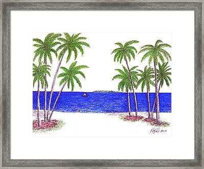 Tropical Beach Framed Print by Frederic Kohli
